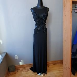 Sherri Hill Dresses - Sherri Hill Black Cut-Out Formal Gown